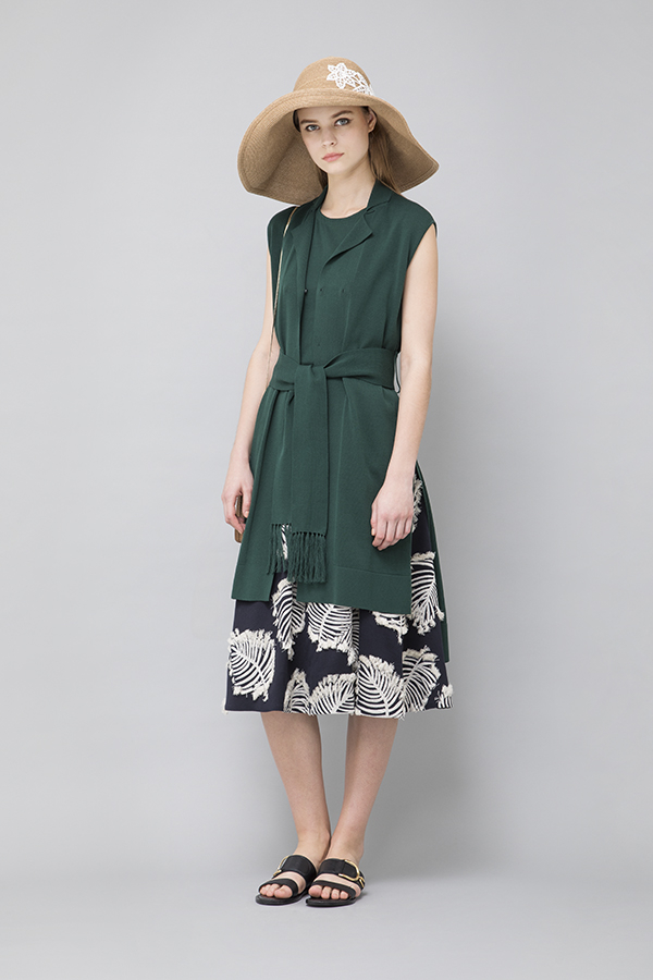 Cut Jacquard Skirt