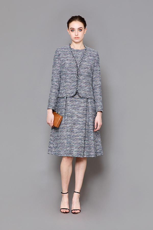 Mix Tweed Jacket & Dress
