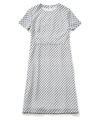 Hound's-tooth Check Dress