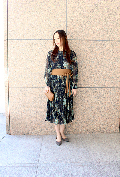 FLORAL BLOUSE & SKIRT