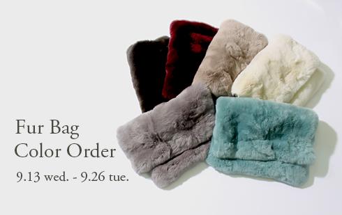 2017AW Fur Bag Color Order